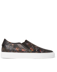 Givenchy Monkey Brothers Printed Leather Slip On Sneakers
