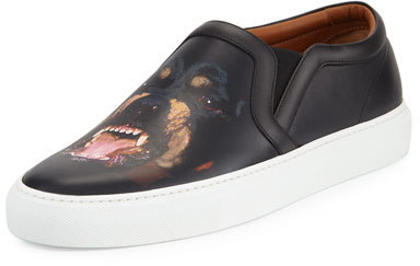Givenchy Rottweiler Print Leather Skate