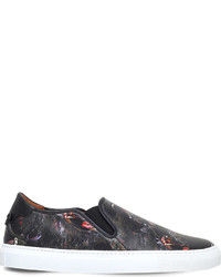 Givenchy Screaming Monkey Print Leather Trainers