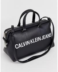 Calvin Klein Jeans Barrel Bag With Logo