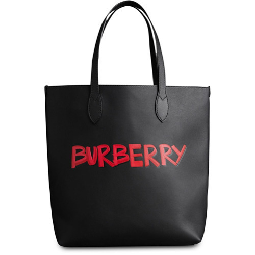 47dcd718d86e ... Burberry Graffiti Print Bonded Leather Tote ...