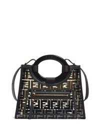 ecb9bfa3c Women's Black Print Leather Tote Bags by Fendi | Women's Fashion ...