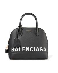 Balenciaga Ville Printed Textured Leather Tote