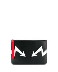 2a4e16bc8 Men's Black Leather Zip Pouches by Neil Barrett | Men's Fashion ...