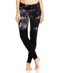 Abstract print goddess ribbed leggings medium 391331