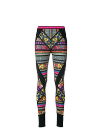 Graphic print panelled leggings medium 8350357