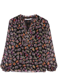 Annalise printed silk chiffon blouse medium 360067