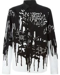Alexander McQueen Floral Drip Print Shirt