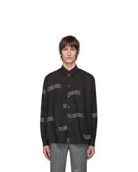 Givenchy Black Twill Printed Shirt