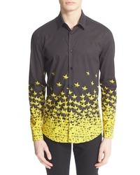 Collection trim fit star print shirt medium 566189