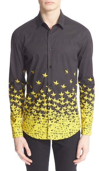 Versace Collection Trim Fit Star Print Shirt Where To Buy How To