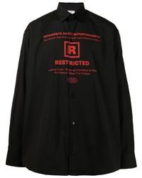 Vetements Graphic Print Long Sleeve Shirt