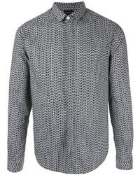 Emporio Armani Long Sleeved Logo Print Shirt
