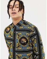ASOS DESIGN Regular Fit Baroque Leopard Print T Print Shirt