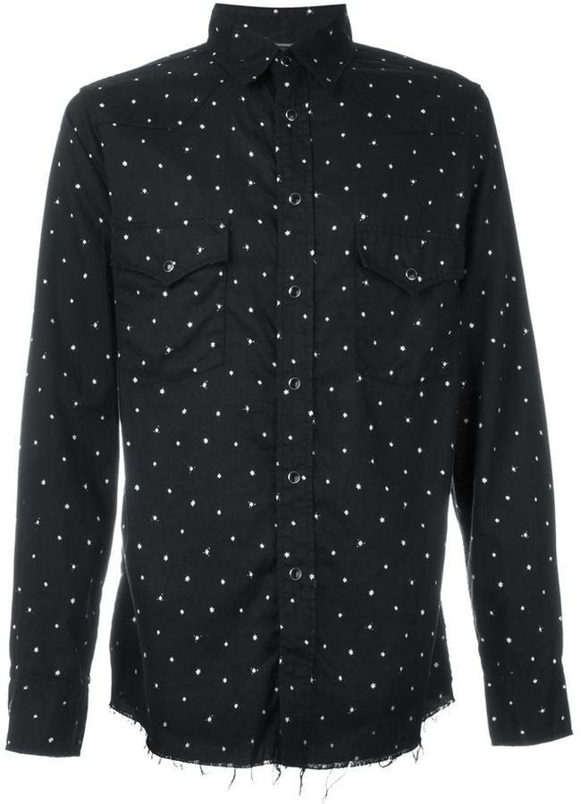 ... Saint Laurent Star Print Western Shirt