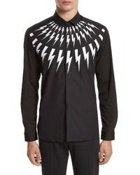 Trim fit thunderbolt graphic sport shirt medium 4353912