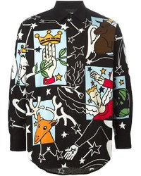 Vintage cartoon print long sleeve shirt medium 566114