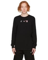 Off-White Black Acrylic Arrows Long Sleeve T Shirt