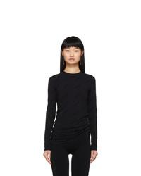 Balenciaga Black All Over Logo T Shirt