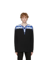 Marcelo Burlon County of Milan Black And Blue Wings Long Sleeve T Shirt