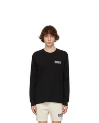 EDEN power corp Black And Grey Recycled Cotton Logo Long Sleeve T Shirt