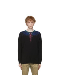 Marcelo Burlon County of Milan Black And Multicolor Wings Long Sleeve T Shirt