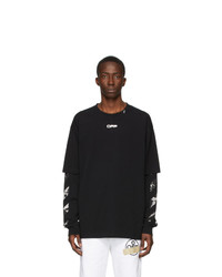 Off-White Black Caravaggio Arrows Long Sleeve T Shirt