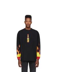 Vetements Black Hot Sauce T Shirt