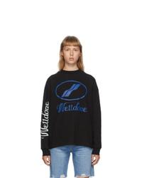 We11done Black Logo Long Sleeve T Shirt