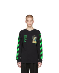 Off-White Black Pascal Painting Long Sleeve T Shirt