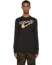 Versace Black Pin Long Sleeve T Shirt