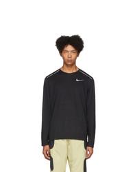 Nike Black Rise 365 Running Long Sleeve T Shirt