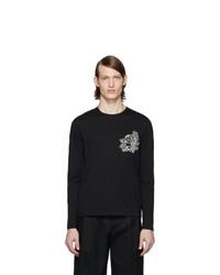 Alexander McQueen Black Skull Flower Long Sleeve T Shirt