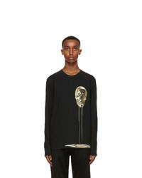 Alexander McQueen Black Skull Print Long Sleeve T Shirt