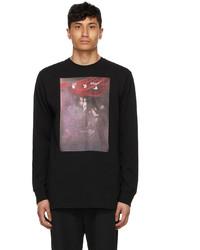 Off-White Black Sprayed Caravaggio Long Sleeve T Shirt