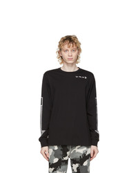 Diesel Black T Just Ls A8 Long Sleeve T Shirt