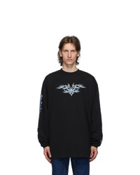 Vetements Black Tribal Long Sleeve T Shirt