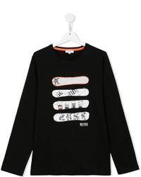 Boss Kids Snowboard Print T Shirt