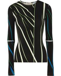 Preen by Thornton Bregazzi Dee Cutout Printed Stretch Jersey Top
