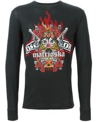 DSQUARED2 Matrioska Print Long Sleeved T Shirt