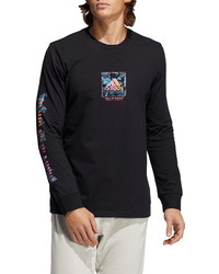 adidas Floral Long Sleeve Graphic Tee