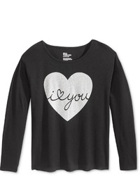 Epic Threads Girls Heart Graphic Print Long Sleeve T Shirt Only At Macys