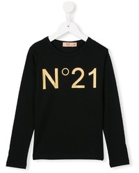 No21 Kids Logo Print T Shirt