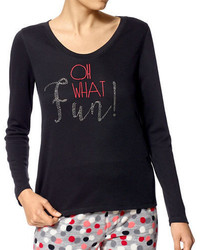 Hue Oh What Fun Long Sleeve T Shirt