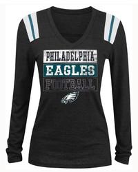 5th & Ocean Philadelphia Eagles Triple Threat Long Sleeve T Shirt