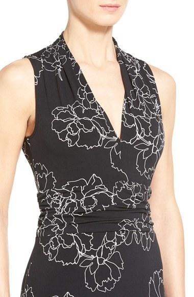273363a290 Vince Camuto Petite Floral Print Jersey Maxi Dress