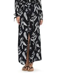 Roxy Speed Of Sound Print Maxi Skirt
