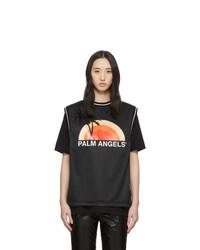 Palm Angels Black Layered Sunset T Shirt