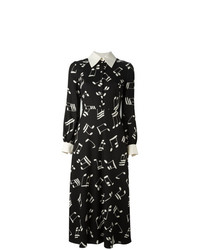 Saint Laurent 70s Printed Midi Dress