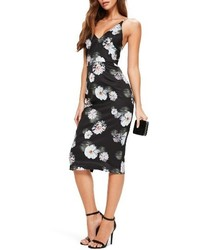 Missguided Floral Print Midi Dress